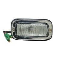 VW BUS TYPE-2 , 57-71  NEW CHROME BACK-UP LIGHT ASSY, EACH 98-9624