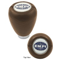 "EMPI  VW BUG SHIFT PATTERN GEAR SHIFT KNOB ""EMPI LOGO"" BROWN 4542"