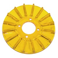 New EMPI VW Gold Yellow Finned Alt/Gen Pulley Cover - 8928