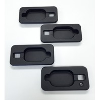 Pirate Mfg 2003-2010 H2 Hummer SUV & SUT Black Billet Door Handle Inserts