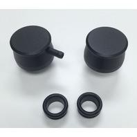 Hot Rod Black Billet Aluminum PCV & Valve Cover Breather Kit W/ Grommet