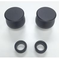 Hot Rod Black Billet Aluminum Valve Cover Breather Kit W/ Grommet SBC BBC V8