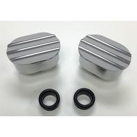 Hot Rod  Polished Oval Satin Top Valve Cover Breather Kit W/ Grommet SBC BBC V8