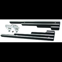 Finned Black Aluminum Spark Plug Wire Looms Holders SBC BBC 302 350 454