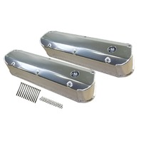 Ford SBF Fabricated Polished Aluminum Long Bolt Tall Valve Covers 260-351W 62-85