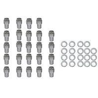 "24 Pc Set Chrome Steel Mag Shank Lug Nuts 7/16"" x 20 Righ Hand Thread Chevy GM"