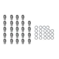 "24 Pc Set Chrome Steel Mag Shank Lug Nuts 1/2"" x 20 Right Hand Thread Mopar Ford"