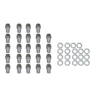 24 Pc Set Chrome Steel Mag Shank Lug Nuts 12MM x 1.25 For Nissan Datsun Older Alloy Wheels
