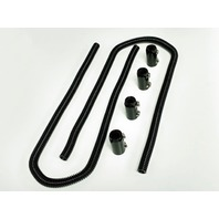 "44"" Black Stainless Steel Heater Hose Kit w/ Black Aluminum End Caps"