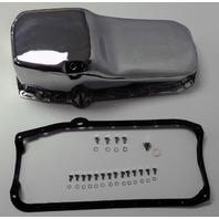 SB Chevy SBC Chrome Oil Pan W/ Bolts & Gaskets 4qt 283 327 307 350 400 Hot Rod