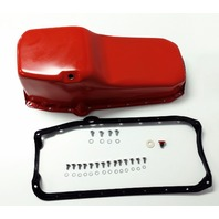 SB Chevy SBC Orange Oil Pan W/ Bolts & Gaskets 4qt 283 327 307 350 400 Hot Rod