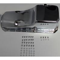 BB Chevy BBC Chrome Oil Pan W/ Bolts 4qt 396-427-454 '65-76 Hot Rat Street Rod