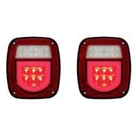 (2) Universal Stud Mount 30 Red LED Combination GLO Lights - Driver/Passenger Pr