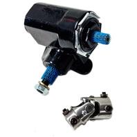 Reversed Corvair Black Steering Box 20:1 Ratio w/ SS U-Joint - T-Bucket Hot Rat Rod