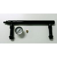 Aluminum Holley 4150 Double Pumper Fuel Line Log Anodized w/ White Oil Gauge