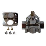 Satin Aluminum Adjustable Fuel Pressure Regulator 4-9 PSI SBC BBC Ford Chevy
