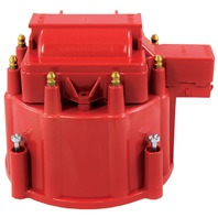 Red HEI Performance Distributor Cap & Rotor V8 SBC BBC Chevy Pontiac Olds Hot