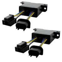 (2) LED Headlight PWM Anti Flicker Module & Adaptor - 2007-2017 Jeep Wrangler JK
