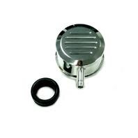 Hot Rod Polished Billet Al Round Ball Milled Valve Cover PCV Breather W/ Grommet