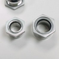 Satin Aluminum Firewall Bulkhead Hose Ring Fittings Set -6AN, 10AN, 5/8 inch