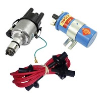 EMPI VW 009 Street- Distributor W/Points Ignition, Red Screamer Kit KT-1005