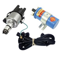 EMPI VW 009 Street- Distributor W/Points Ignition, Black Screamer Kit KT-1007