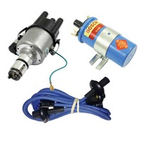 EMPI VW 009 Comp.- Distributor W/Points Ignition, Blue Screamer Kit KT-1010