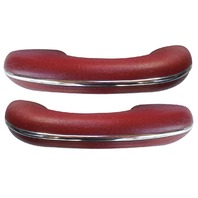 TMI VW BUG BEETLE TYPE 1  Arm rests, 58-67, Type 1 , #17 RED, PAIR