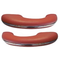 TMI VW BUG BEETLE TYPE 1  Arm rests, 58-67, Type 1, #23 BRICK RED, Pair