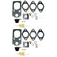Carburetor Rebuild Kit W/ Floats, 2 Carbs, For Brosol / Solex H40/44 Eis Kadron