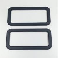 2005-2010 Ford Mustang GT Black Powder Coated Billet Logo Surrounds, PR