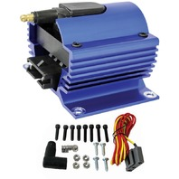 Blue Universal 12 Volt External Ignition Coil E-Core Coil 50K Volt SB Chevy Ford