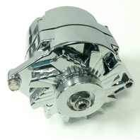 GM Chevy Chrome 110 AMP 10SI V-Belt 1  OEM Wire Alternator 55-86 SBC BBC Hot Rod