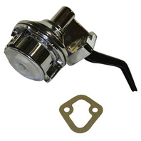 "Chrome Mechanical Fuel Pump Small Block Ford V8 289 302 351W 1/4"" NPT"