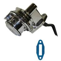 Chrome Mechanical Fuel Pump Small Block Ford V8 351C 400M 1/4 NPT Mustang Bronco