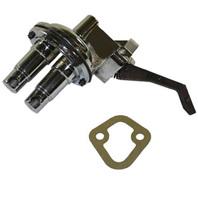 Chrome Mechanical Fuel Pump Small Block Chrysler V8 273 340 318 360 80GPH MOPAR