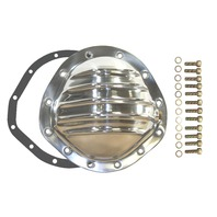 "Polished Aluminum Chevy GM 12 Bolt Diff  8.75"" RG Differential Cover REAR"