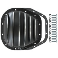 """Black Finned Aluminum Ford 12-Bolt 10.5"""" RG Differential Cover F150 F250 F350"""