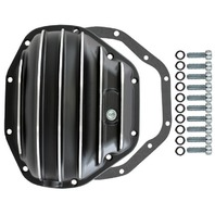 Black Finned Aluminum Dana 80 10-Bolt Diff Differential Cover Ford MOPAR Truck