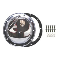 Chrome Steel Chevy GM 10 Bolt Diff Differential Cover w/ Drain Plug - A-B-C-G-K-O Axles