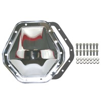 "Chrome Steel Chevy GMC 14 Bolt Diff  10.5"" RG Differential Cover 2500HD 3500HD"
