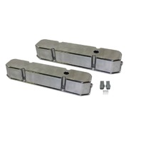 1958-88 Chrysler Dodge Mopar 383-440 Polished Aluminum Smooth Valve Covers
