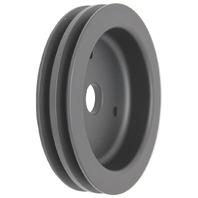 BBC Chevy 396-454 Black Aluminum SWP Double Groove Crankshaft Pulley
