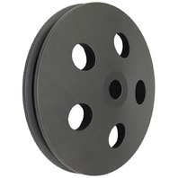 GM & Chevy 67-84 Black Aluminum Single Groove Power Steering Pulley
