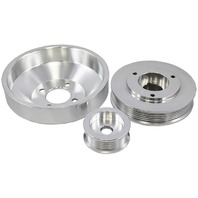 1996-1998 Ford Mustang 4.6L GT 96-99 Cobra Polished Aluminum Serpentine Pulley Set