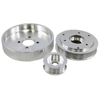 2001-2004 Ford Mustang 4.6L GT / 01 Cobra Polished Aluminum Serpentine Pulley Set