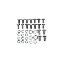 Small Block Chevy Chrome Oil Pan Bolt & Washer Kit 283 327 350 400 V8 Hot Rod