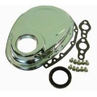 Chrome SBC Chevy 283-350 Timing Chain Cover Kit