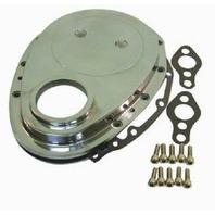 Chrome Aluminum SBC Chevy V8 Timing Chain Cover Kit