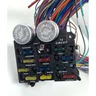 universal 12v 24 circuit 12 fuse wiring harness wire kit v8 rat hot rh ebay com Easy Wiring Harness 14 Circuit Wiring Harness